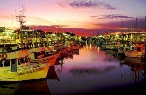 California - SF Fisherman's Wharf sunset