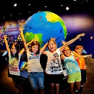 Kids enjoying Discovery Place