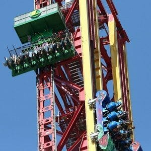 Drop of Doom Ride at Six Flags Magic Mountain