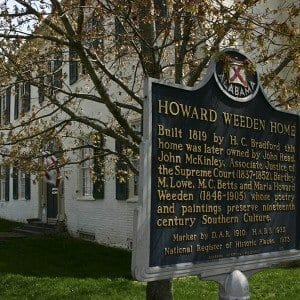 Weeden House Sign and Exterior