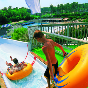 Kids on a Water Slide - Ocean Breeze Waterpark