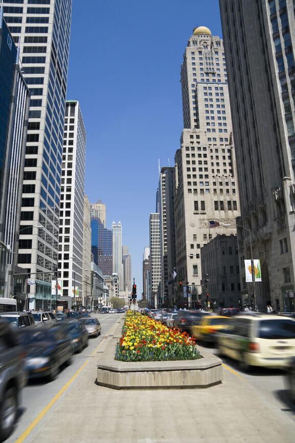 Michigan Avenue, downtown Chicago, IL Shutterstock