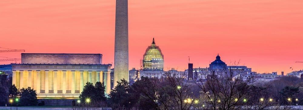 Washington DC, USA skyline.
