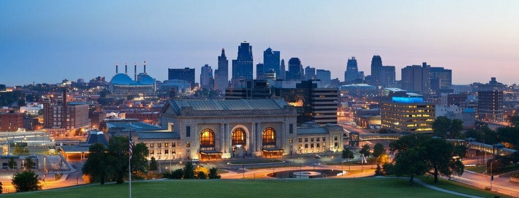 Kansas City skyline panorama.