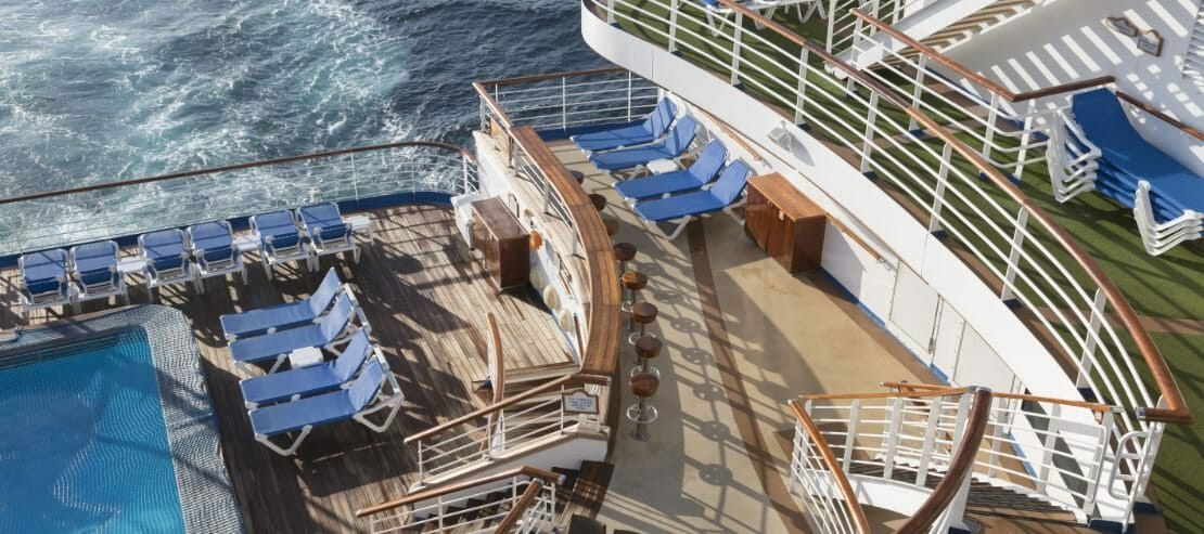 on deck of cruise ship
