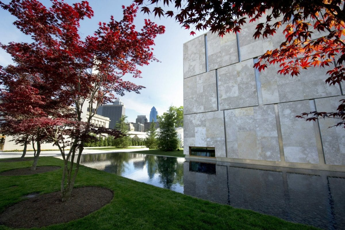The Barnes Foundation overlooking the city.  Photo Credit: Photo Courtesy of the Barnes Foundation