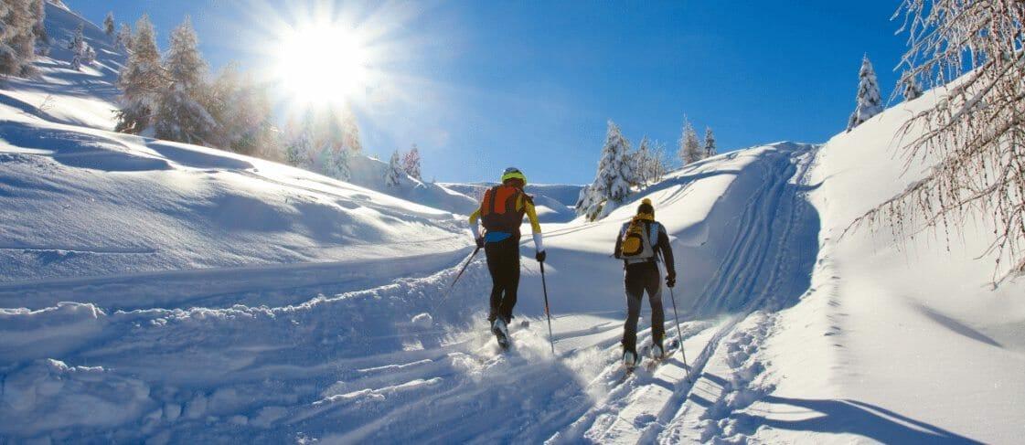 skiing on senior trip