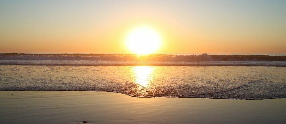 La Jolla Beach Sunset -Courtesy SanDiego.org