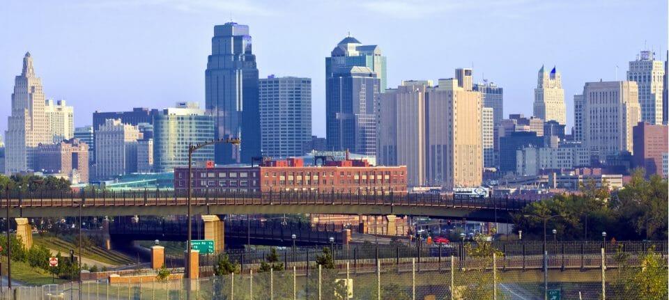 Kansas City skyline at dawn, 2007