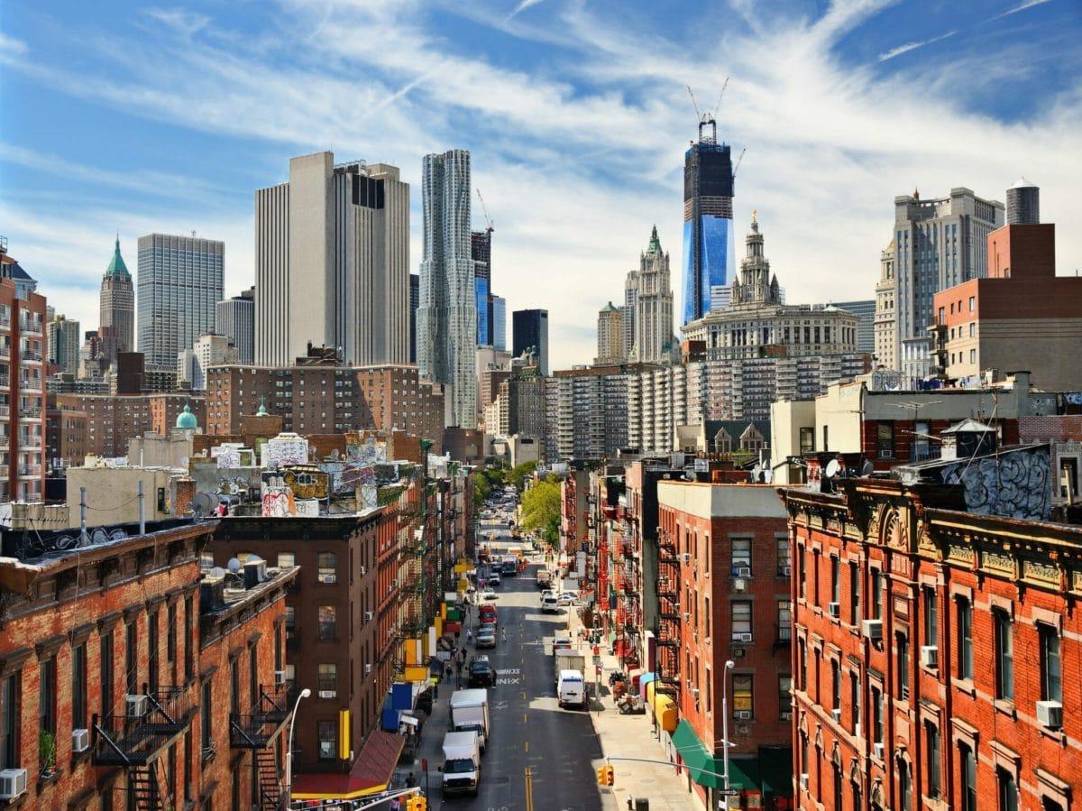 Lower Manhattan Cityscape in New York City.