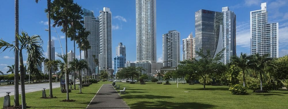 Promenade in Panama Stadt