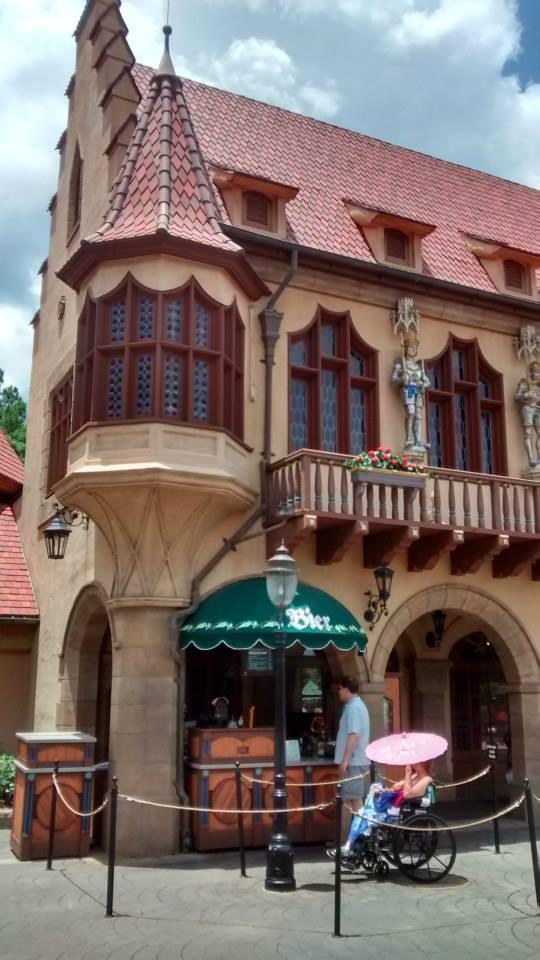 Exterior of the Biergarten
