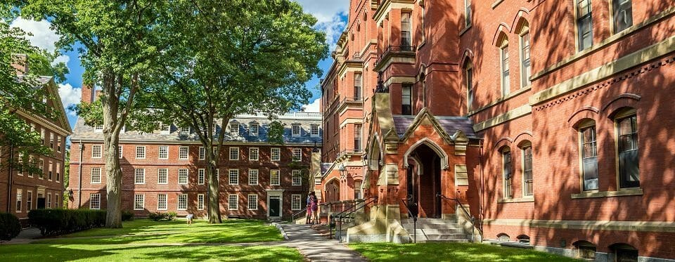 CAMBRIDGE, USA - August 13: The Harvard University in Cambridge, MA, USA on August 13, 2015. Established in 1636, is the oldest institution of higher learning and the first chartered in the USA