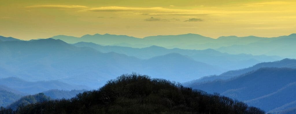Twilight at Great Smoky Mountains