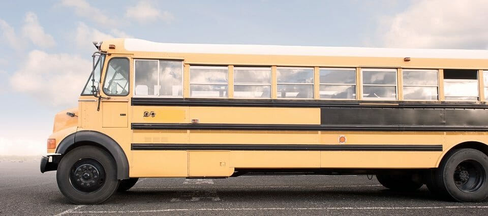 school bus in a parking