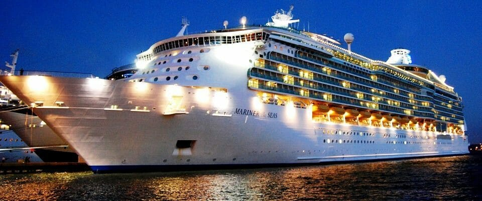This is not our ship - it's a Royal Caribbean.
