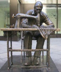 Garment Worker sculpture