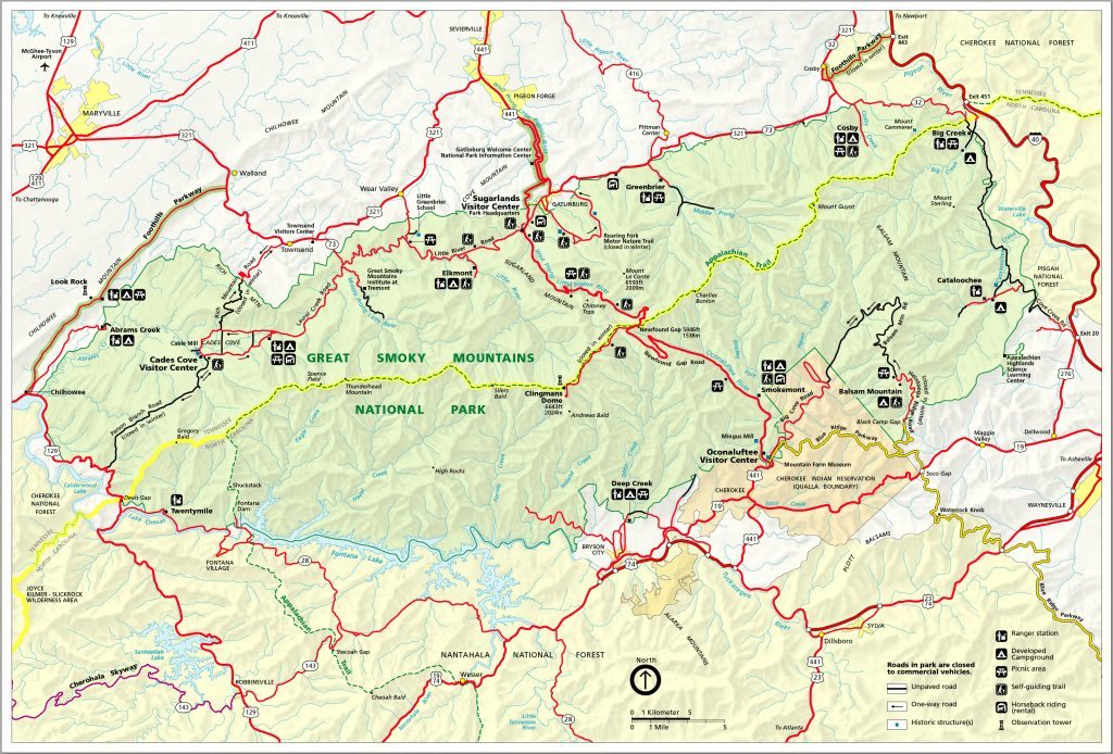 map_of_great_smoky_mountains_national_park
