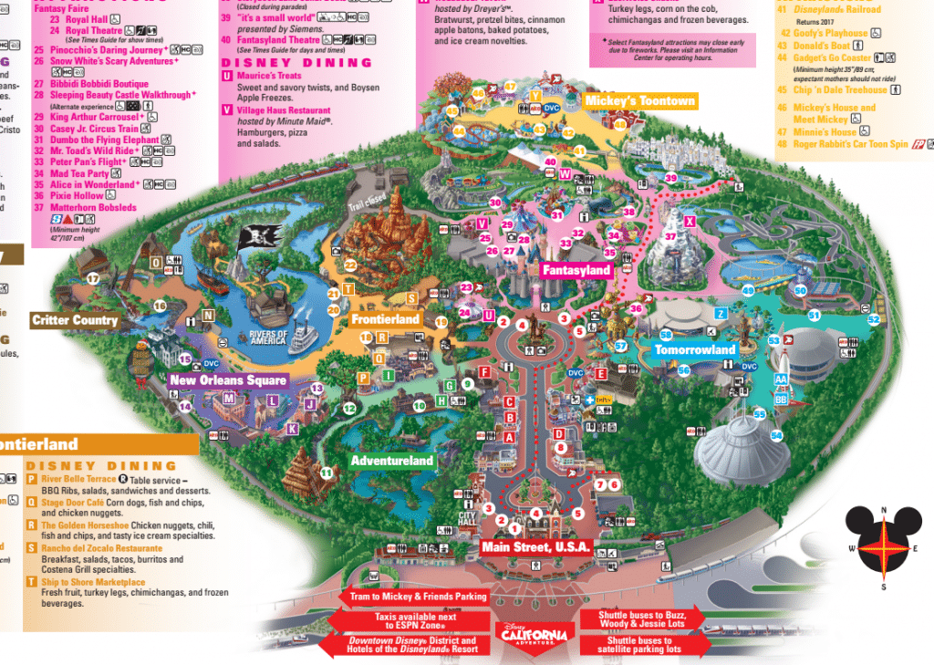 Disneyland Map Credit Disney Resort