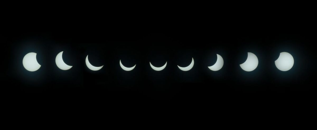 Time lapse of Solar Eclipse