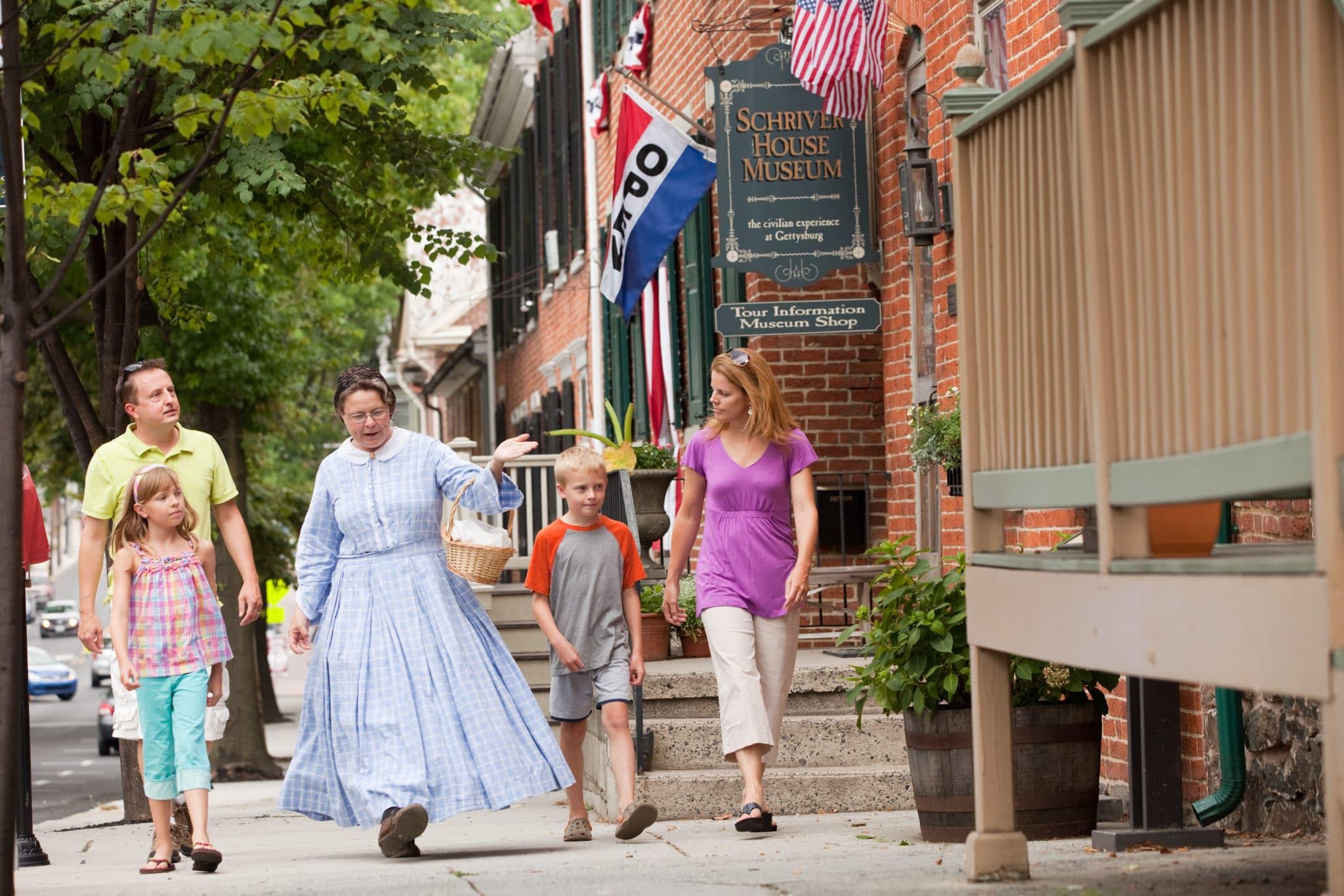 Outside the Shriver House Museum Credit Destination Gettysburg