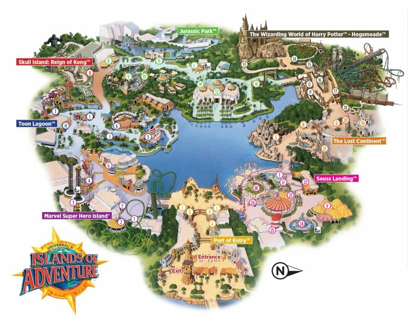 Fact About Island Of Adventure In Florida
