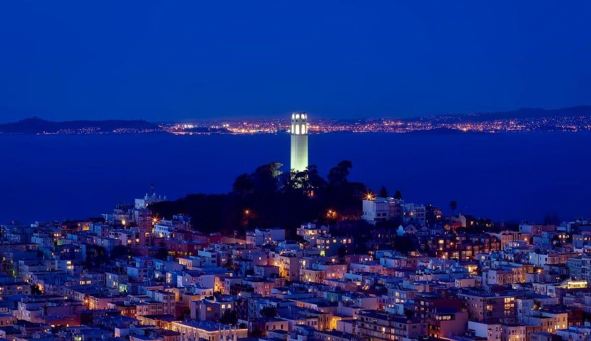Coit Tower San Francisco Skyline