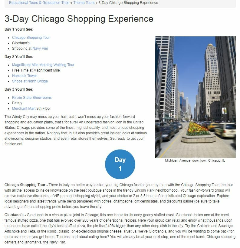 Chicago Shopping Tour