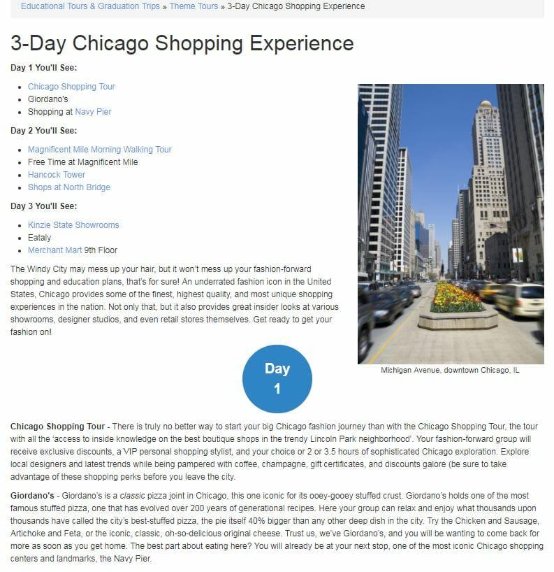 Chicago Shopping Tour