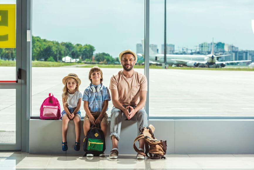 Young Students at Airport