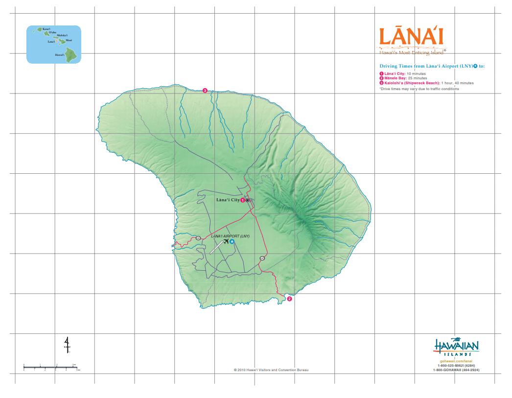 Lanai - Credit The Hawaiian Islands
