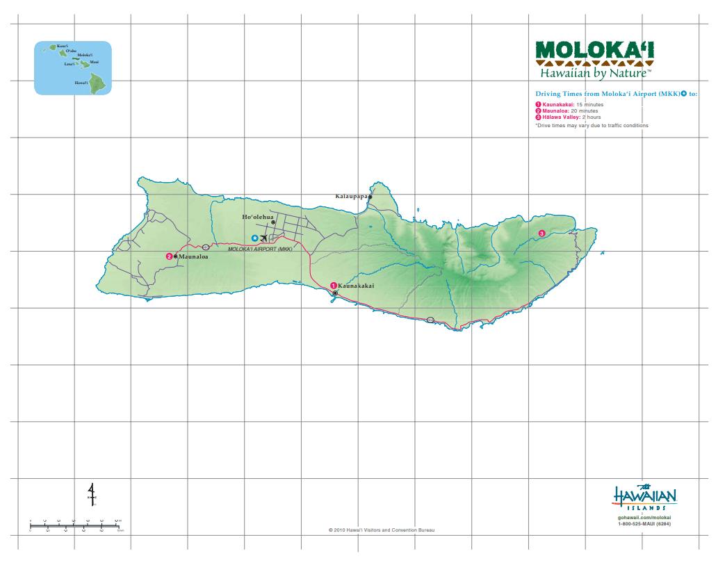 Molokai - Credit The Hawaiian Islands