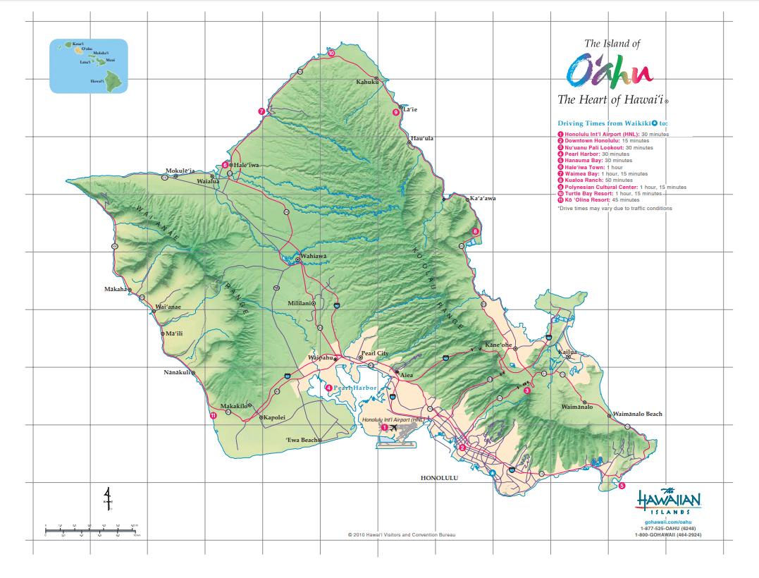 Oahu - Credit The Hawaiian Islands