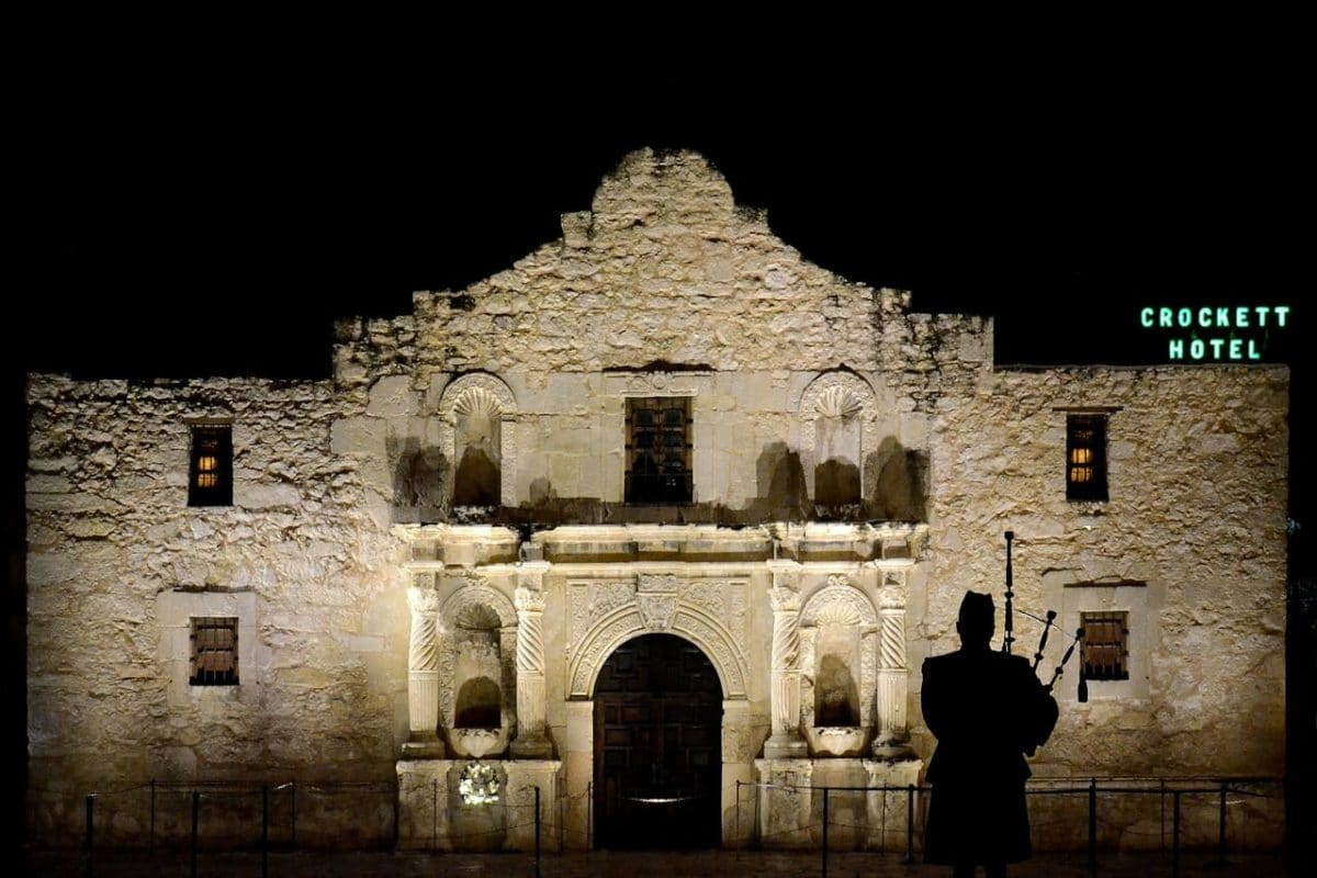 The Alamo at Night Pixabay Public Domain